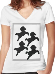 pony Women's Fitted V-Neck T-Shirt