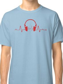 Headphones Heartbeat 2 Classic T-Shirt