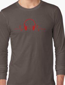 Headphones Heartbeat 2 Long Sleeve T-Shirt