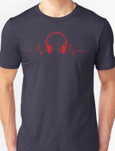 Headphones Heartbeat 2 Unisex T-Shirt