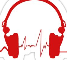 Headphones Heartbeat 2 Sticker