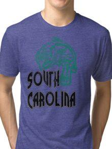 FISH SOUTH CAROLINA VINTAGE LOGO Tri-blend T-Shirt