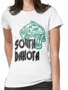 FISH SOUTH DAKOTA VINTAGE LOGO Womens Fitted T-Shirt
