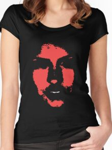'Face' 3 Women's Fitted Scoop T-Shirt