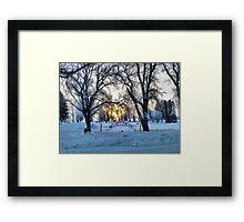 In the Dead of Winter Framed Print