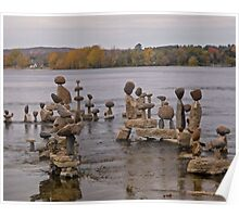 Rock Sculptures in the Ottawa RIver, Ottawa, ON Poster