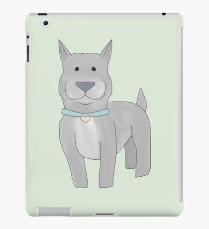 Grey Pit Bull iPad Case/Skin