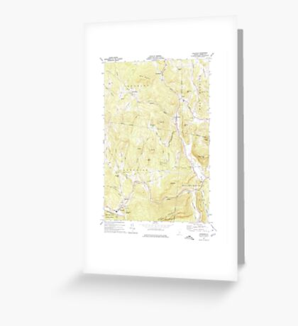 USGS Topo Map  Vermont VT Cavendish 337359 1972 24000 Greeting Card