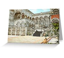 Neoclassical Courtyard Greeting Card