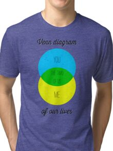 Venn diagram of our lives Tri-blend T-Shirt