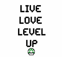8-BIT Live, Love, Level Up  by CrimsonRogue