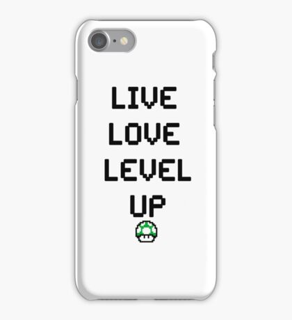 8-BIT Live, Love, Level Up  iPhone Case/Skin