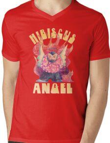 Hibiscus Angel - Vintage Mens V-Neck T-Shirt