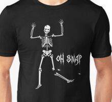Oh Snap, Funny Skeleton Halloween Unisex T-Shirt