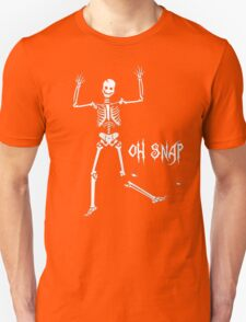 Oh Snap, Funny Skeleton Halloween T-Shirt