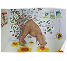 Downward Bear (Downward facing dog) Yoga pose Poster