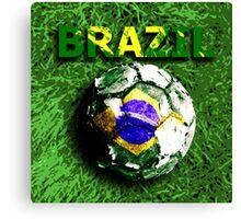 Old football (Brazil) Canvas Print