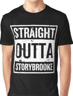 Straight Outta Storybrooke - White Words Graphic T-Shirt