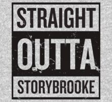 Straight Outta Storybrooke - Black Words One Piece - Long Sleeve
