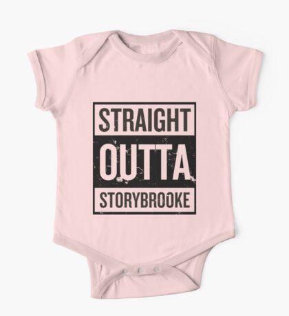 Straight Outta Storybrooke - Black Words One Piece - Short Sleeve