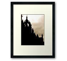 St Giles Silhouette Framed Print