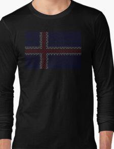digital Flag (iceland) Long Sleeve T-Shirt