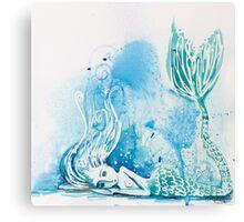 Blue Bubbles Canvas Print