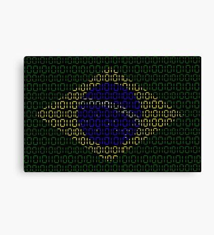 digital Flag (Brazil) Canvas Print
