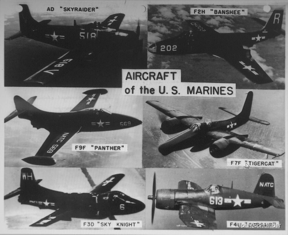 USMC Aircraft 1950s by John Schneider