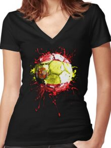 football spain Women's Fitted V-Neck T-Shirt