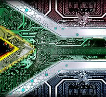 circuit board South Africa (Flag) by sebmcnulty