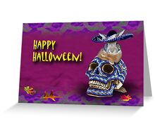 Happy Halloween Bunny Rabbit Greeting Card