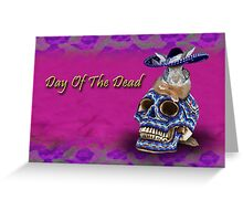 Day Of The Dead Bunny Rabbit Greeting Card