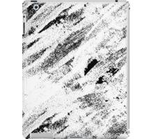 Simple Rustic White Painted Brushstrokes on Black iPad Case/Skin