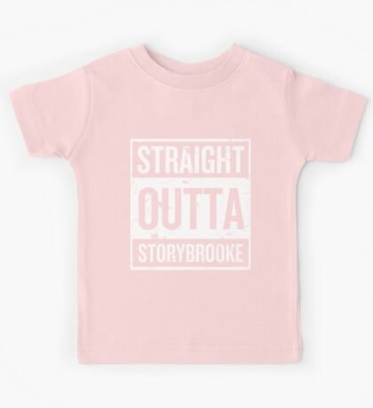 Straight Outta Storybrooke - White Words Kids Tee