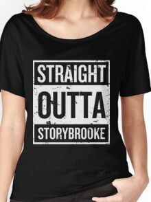 Straight Outta Storybrooke - White Words Women's Relaxed Fit T-Shirt