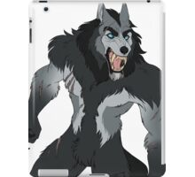 Snarly werewolf iPad Case/Skin