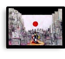 Japanese man in A Japanese landscape Canvas Print