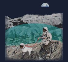 Lunar Colony Astronaut With Dog by Archpress