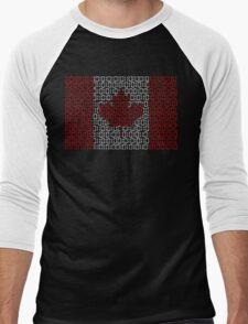 digital Flag (Canada) Men's Baseball ¾ T-Shirt