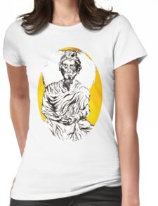 yellow sitting and the daily shudder Womens Fitted T-Shirt