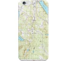USGS Topo Map  Vermont VT Crystal Lake 337388 1986 24000 iPhone Case/Skin