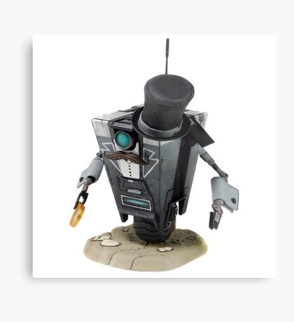 Fancy Butler Claptrap bot Metal Print