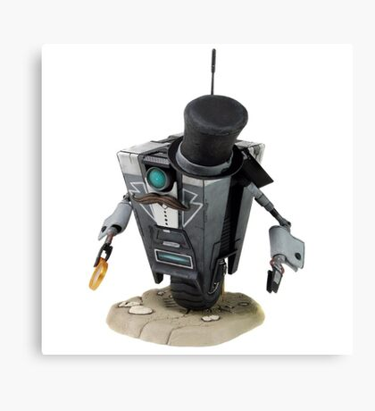 Fancy Butler Claptrap bot Canvas Print