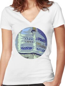 royal pavilion, abstract Women's Fitted V-Neck T-Shirt
