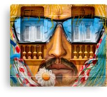 Graffiti face with glasses Canvas Print