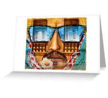 Graffiti face with glasses Greeting Card