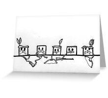 Sugar Lump Indians Greeting Card