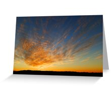 Copley Sunset, Outback South Australia Greeting Card