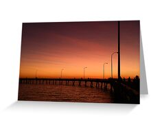 Derby Jetty Sunset, Western Australia Greeting Card